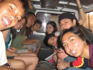 Us inside our ride going to Hundred Islands