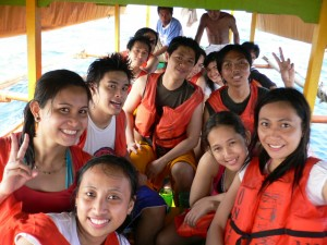 Us inside our boat going to Marcos Island