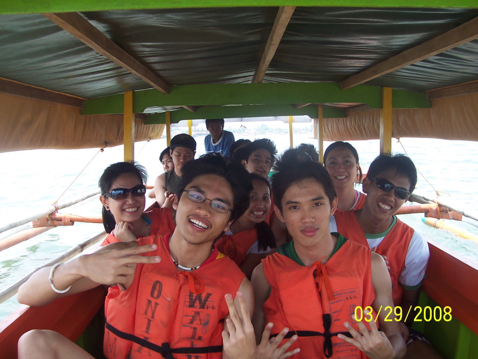 Us going to Quezon Island from Marcos Island