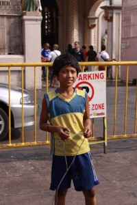 A kid in Quiapo