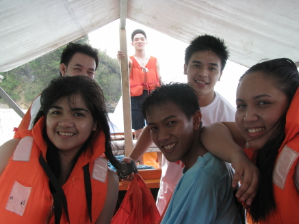 Boating around Puerto Galera