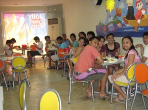 Us having lunch on the way home to Manila from Pangasinan