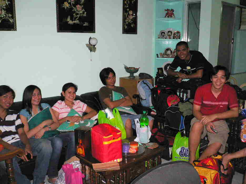 Us inside Carla's house going to Pangasinan