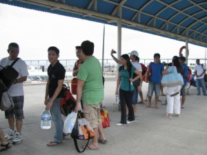 Waiting for ferry to Puerto Galera