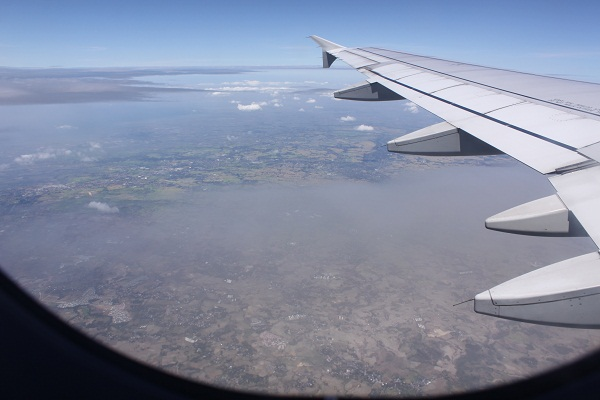 View of Luzon from my window seat