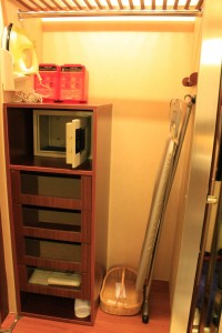 In-room safety deposit box and ironing facilities