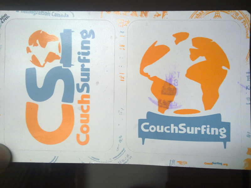 Couch Surfing Stickers