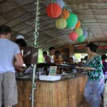Buffet inside Floating Restaurant Loboc River