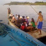 Flatboat to Jomalig Island