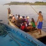 Flatboat to Jomalig Island