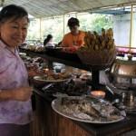 Inside Floating Restaurant in Loboc River