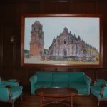 Painting of Paoay Church inside Malacañang of the North