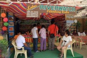 Riverwatch Floating Restaurant Booth in Loboc River