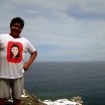 Mayor Rodelo Tena of Jomalig at the top of Manlanat Island