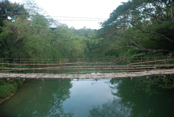 Sipatan Hanging Bridge over Sipatan River