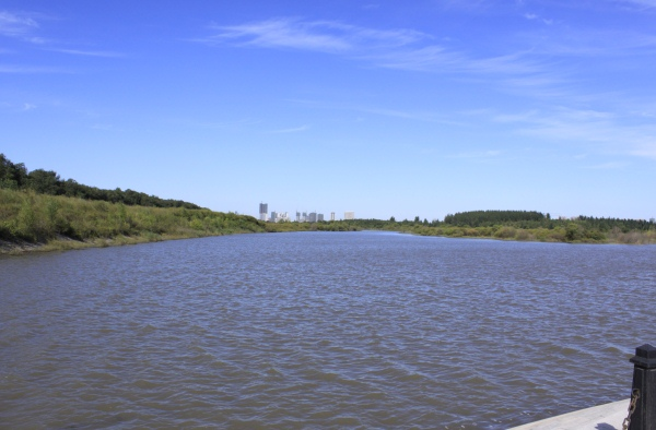 Songhua River as viewed from Sun Island in Harbin, Heilongjiang, China
