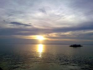 Sunset as seen from Jomalig Island