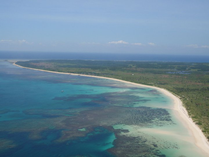 Aerial view of Jomalig Island