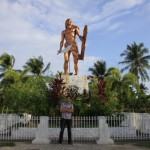 Jason beside Lapu-Lapu Shrine