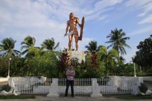 Jason beside Lapu-Lapu Shrine