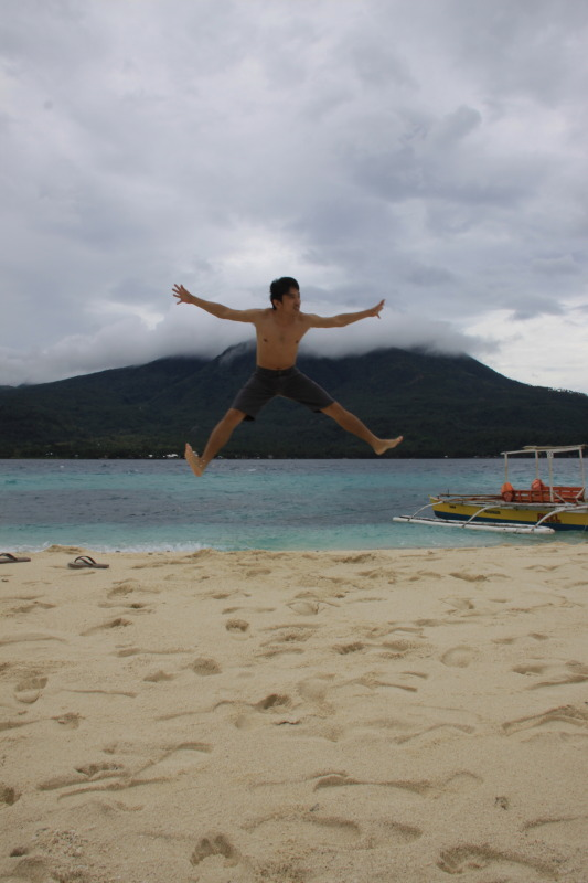 Jumping at Virgin Island