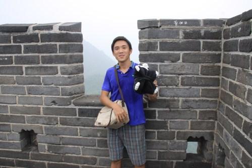 At the Top of Great Wall of China
