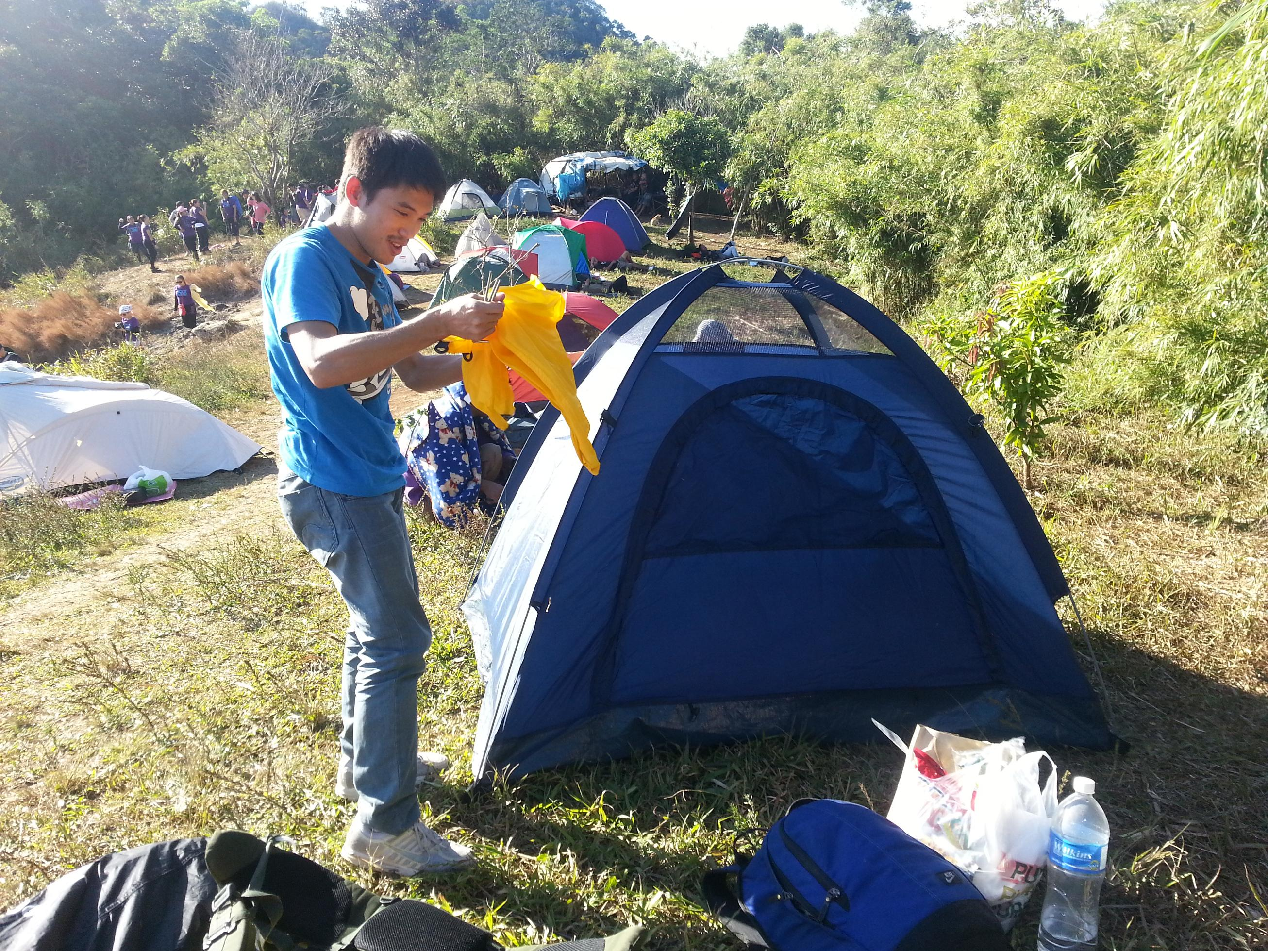 Campsite at Pico de Loro