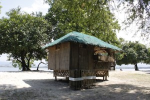 Bamboo hut in Potipot Island