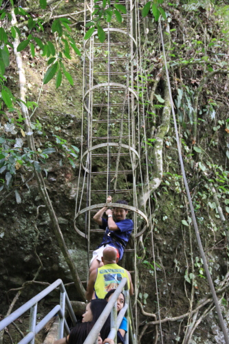Roping down to Cavinti Falls