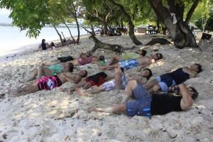 Sleeping in Potipot Island