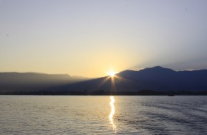 Sunset viewed from Potipot Island