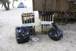 Trash in Potipot Island