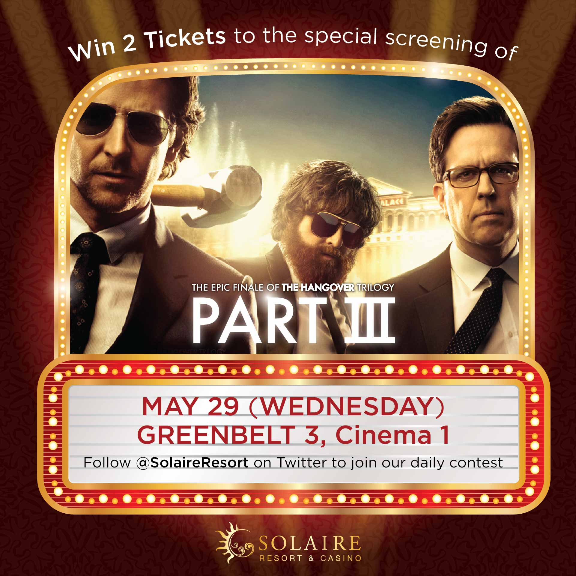 Solaire Resort & Casino Hangover Part III Twitter Promo