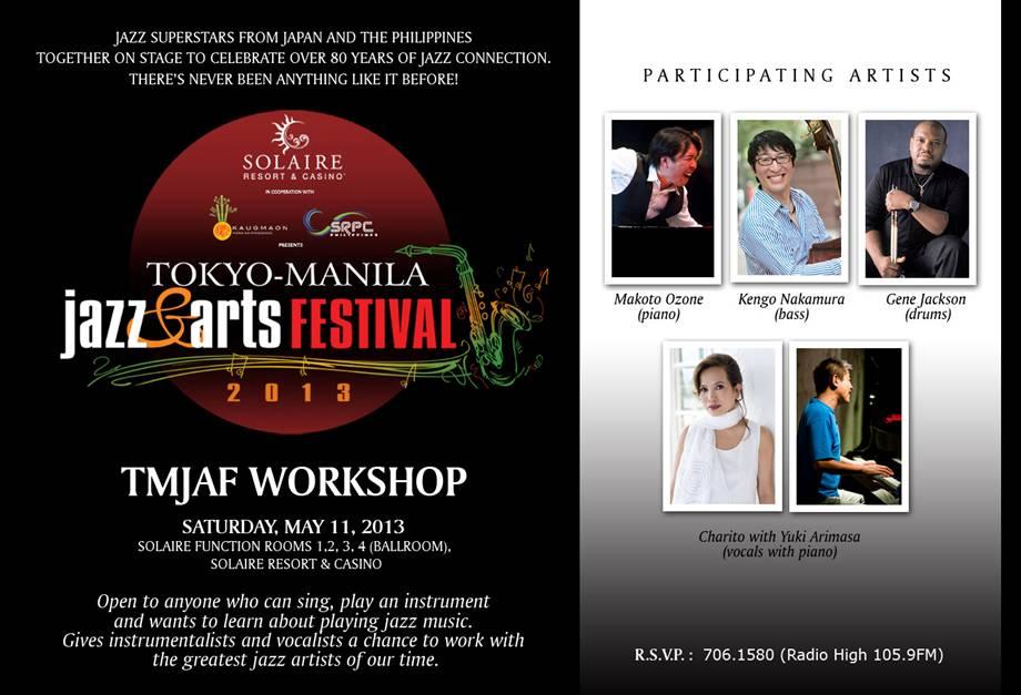 Tokyo Manila Jazz Arts Festival 2013 Workshop
