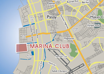 Alphaland Marina Club Location Map