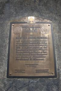 Leyte Landing Memorial Marker