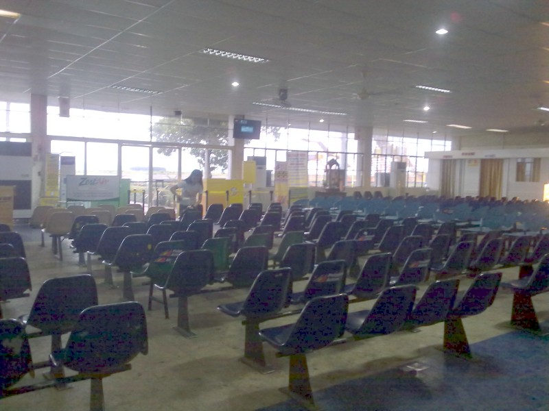 Boarding Area inside Daniel Romualdez Airport