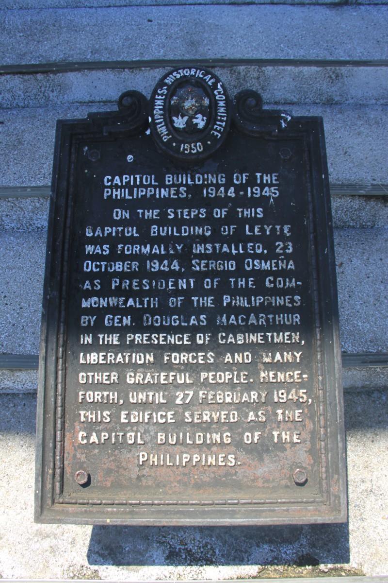 Leyte Provincial Capitol Marker