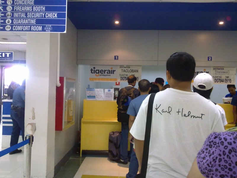 Manila Domestic Passenger Terminal Tigerair Checkin Counter