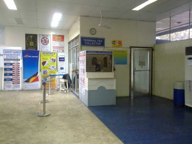 Terminal Fee Collector inside Daniel Romualdez Airport