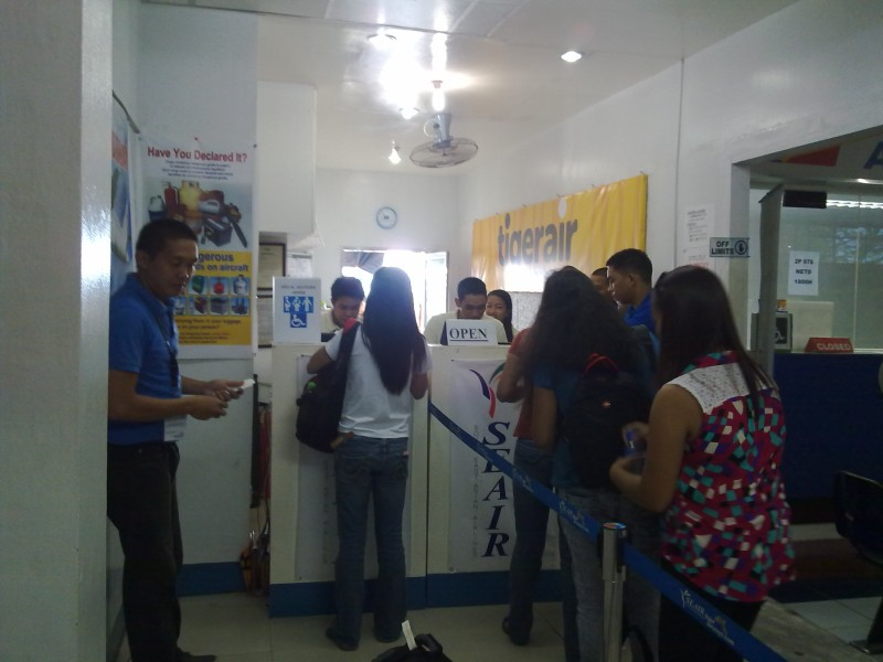 Tigerair Philippines Checkin Counter inside Daniel Romualdez Airport