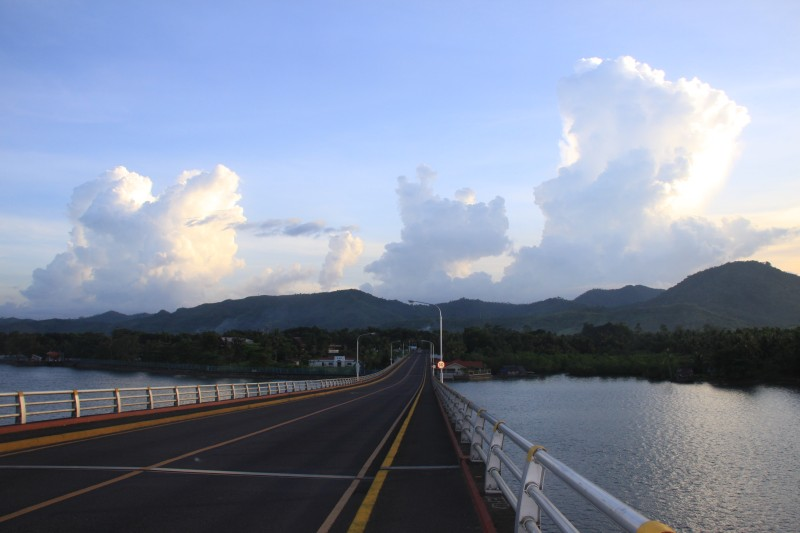View of Cabalawan from San Juanico Bridge