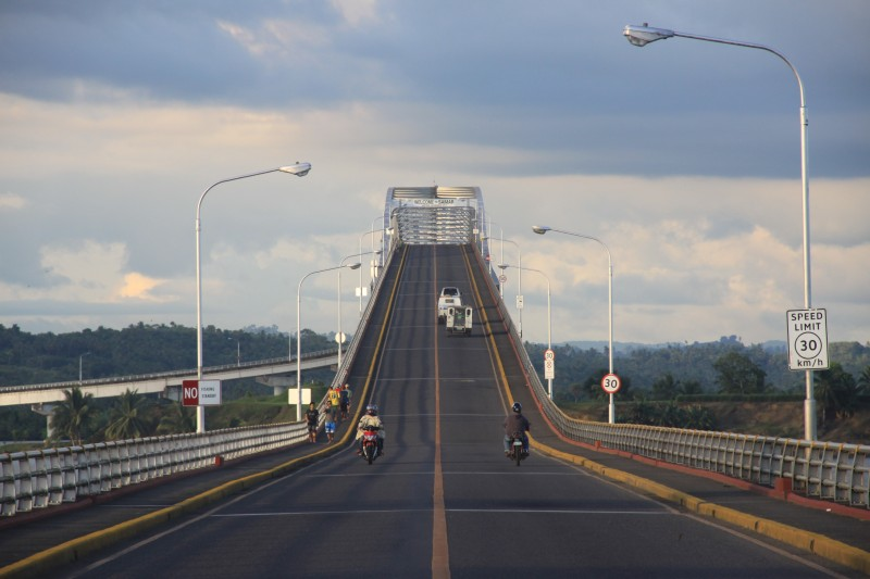 San Juanico Bridge seen from Leyte