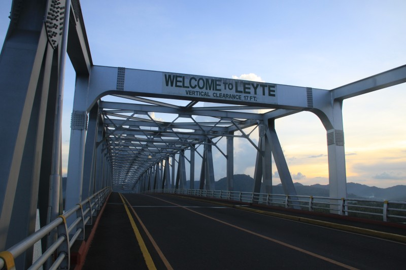 Welcome to Leyte sign at San Juanico Bridge
