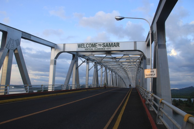 Welcome to Samar sign at San Juanico Bridge