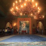 The Ballroom including the painting of Imelda at the background at Santo Niño Shrine and Heritage Museum