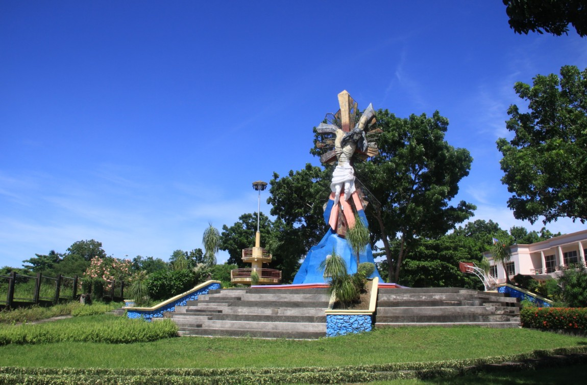 Crucified Christ and the Map of Leyte Monument