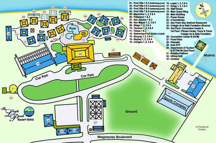 Leyte Park Hotel Map