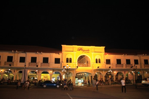 Plazuela de Iloilo at night