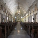 Inside San Sebastian Cathedral